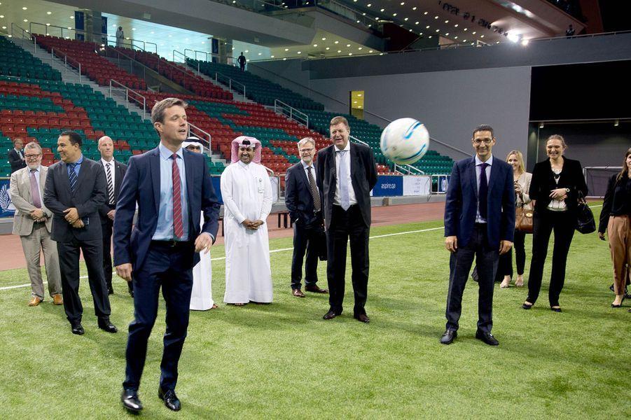 Le prince Frederik de Danemark à Doha, le 2 mars 2016