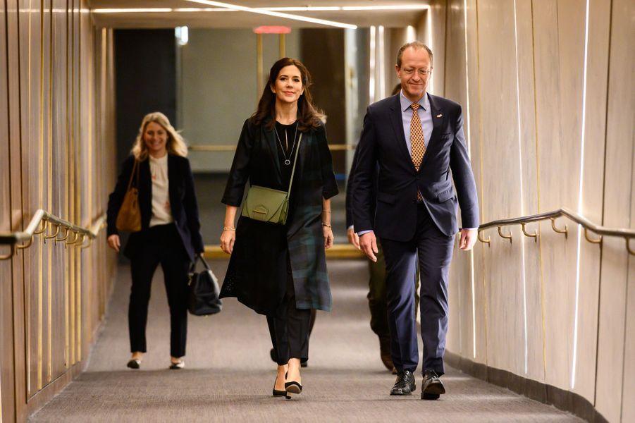 La princesse Mary de Danemark en visite à Austin, le 11 mars 2019
