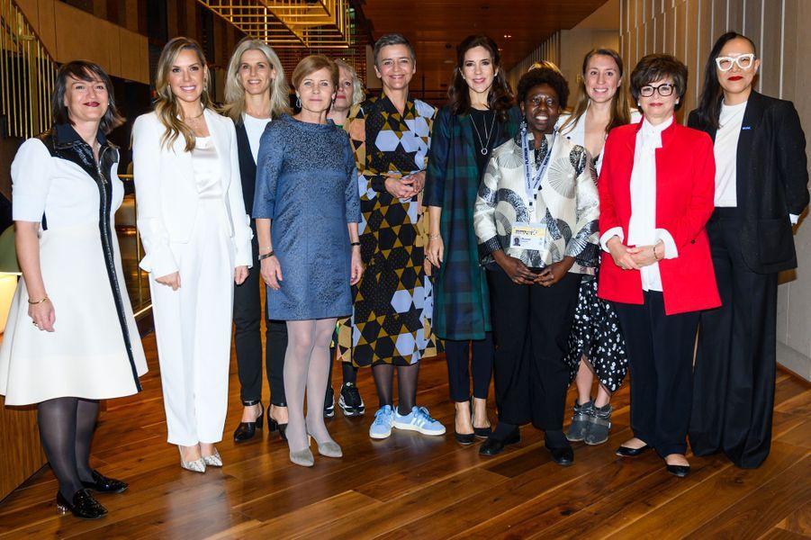 La princesse Mary de Danemark en déplacement à Austin, le 11 mars 2019