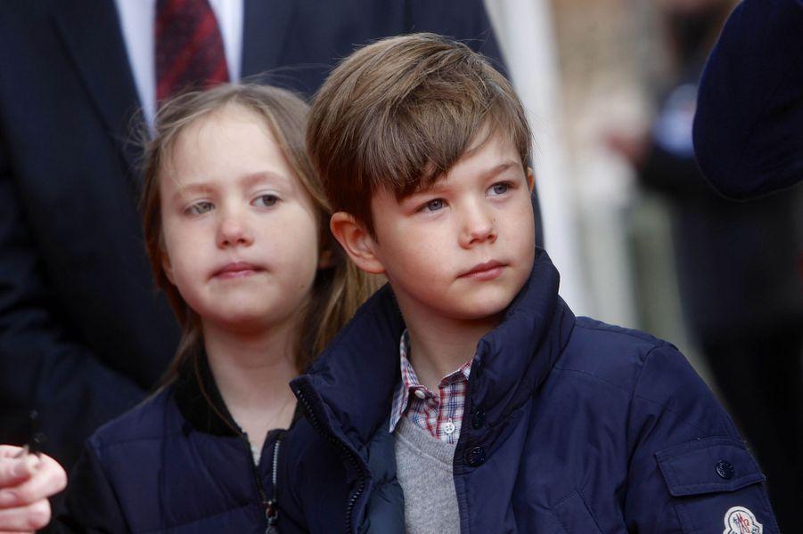 La princesse Josephine et le prince Vincent de Danemark, le 11 avril 2019 à Copenhague