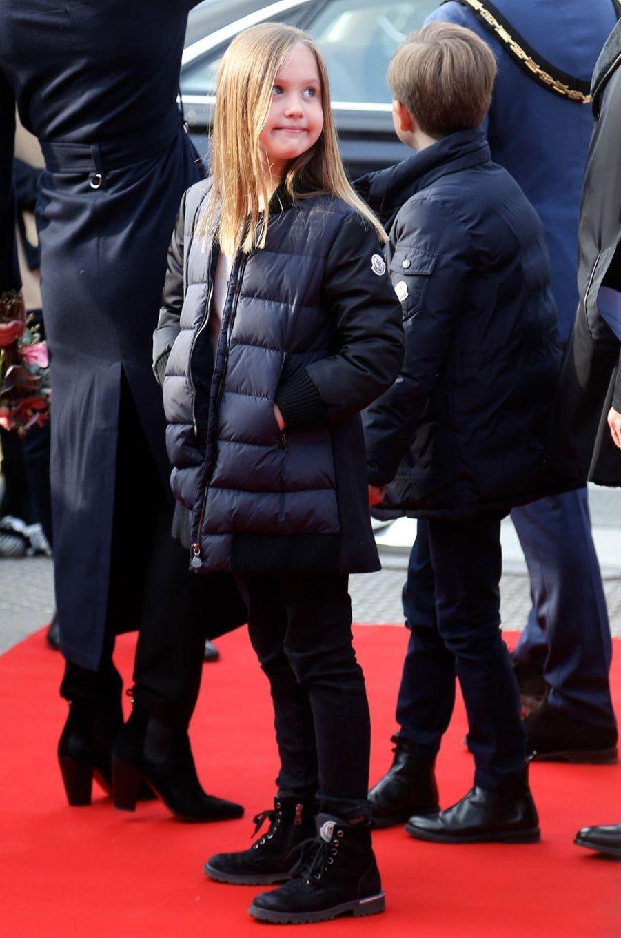 La princesse Josephine et le prince Vincent de Danemark, à Copenhague le 11 avril 2019