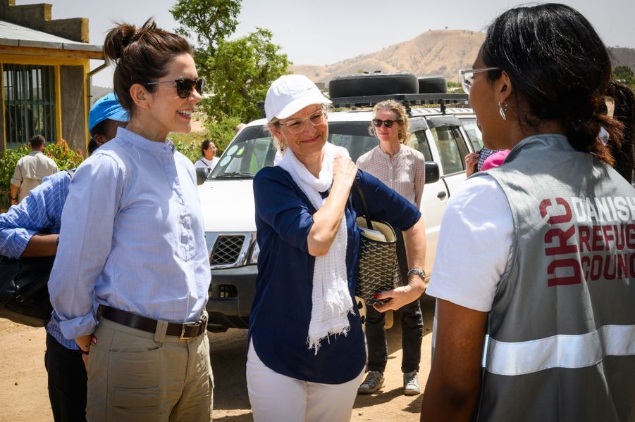 La princesse Mary de Danemark dans un camp de réfugiés en Ethiopie, le 27 mars 2019
