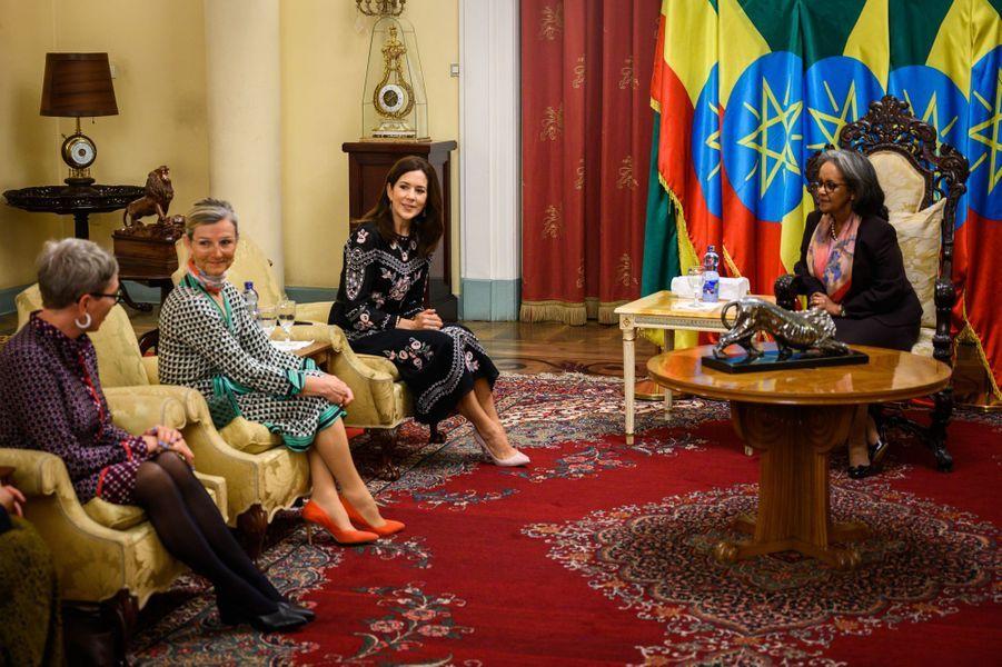 La princesse Mary de Danemark avec la présidente de l'Ethiopie à Addis-Abeba, le 27 mars 2019