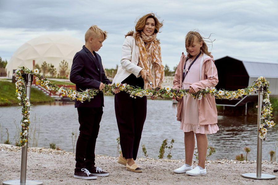 La princesse Mary de Danemark inaugure Naturkraft à Ringkøbing, le 12 juin 2020