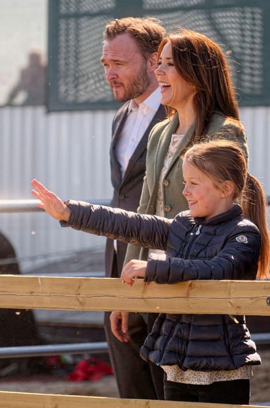 La princesse Mary de Danemark à Kirke Hyllinge, le 19 avril 2015