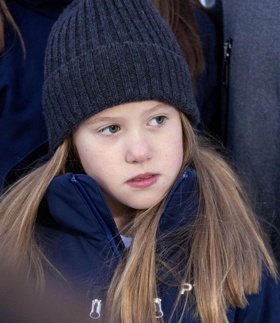 La princesse Josephine de Danemark à Verbier en Suisse, le 6 janvier 2020