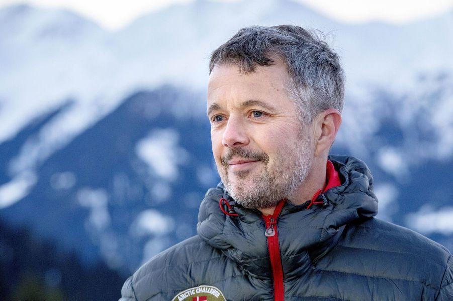 Le prince Frederik de Danemark à Verbier en Suisse, le 6 janvier 2020