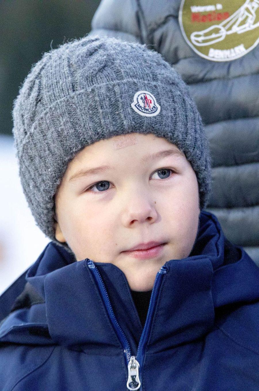 Le prince Vincent de Danemark à Verbier en Suisse, le 6 janvier 2020