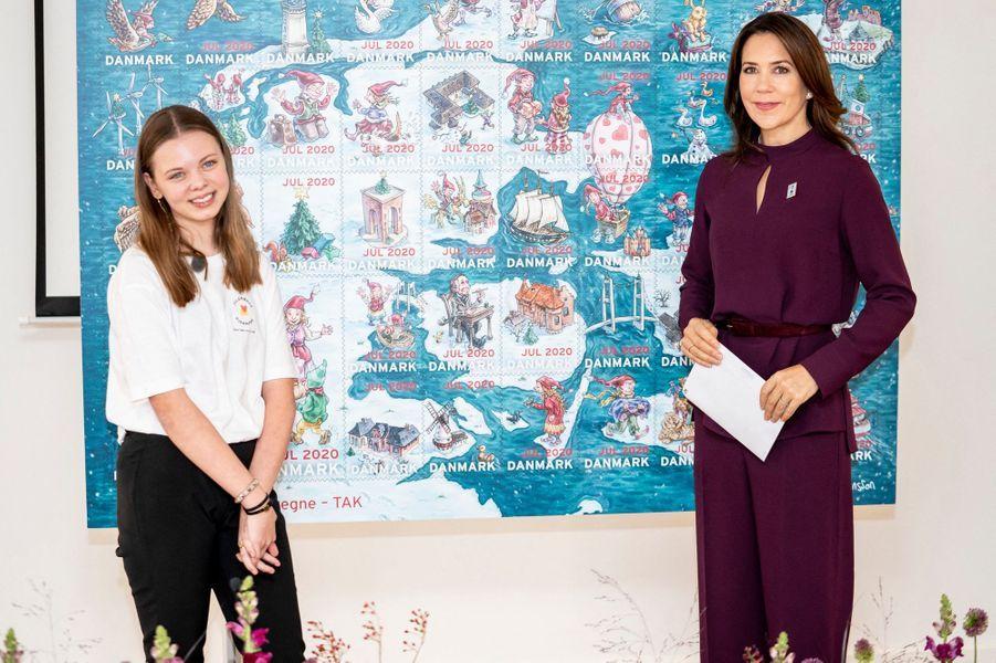 La princesse Mary de Danemark à Roskilde, le 26 octobre 2020