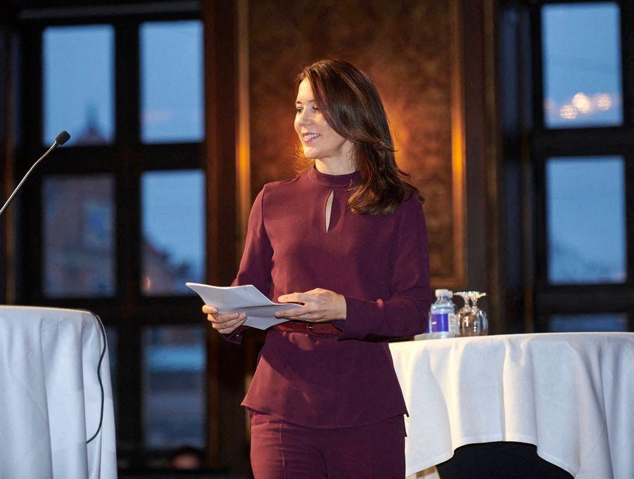 La princesse Mary de Danemark à Copenhague, le 26 octobre 2020