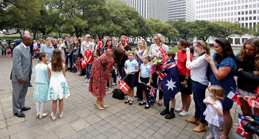 La princesse Mary de Danemark chaleureusement accueillie à Houston, le 12 mars 2019