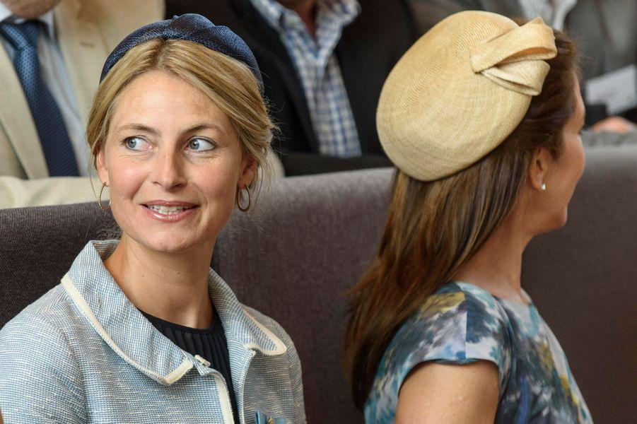 La princesse Mary avec sa nouvelle secrétaire particulière à Slagelse, le 24 août 2015