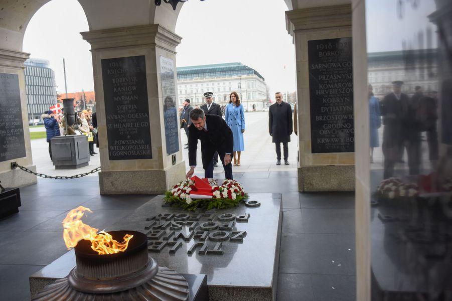 La princesse Mary et le prince Frederik de Danemark à Varsovie en Pologne, le 25 novembre 2019