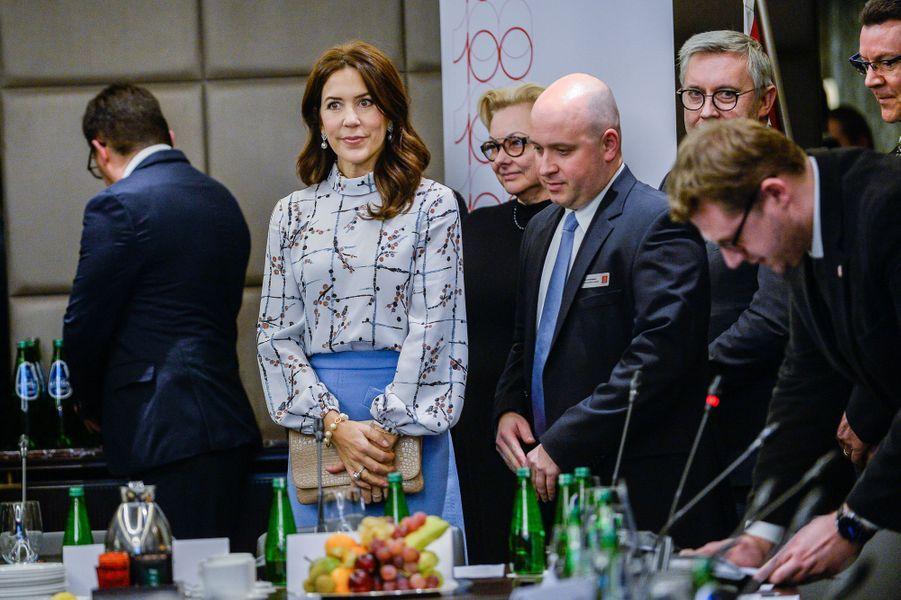 La princesse Mary de Danemark à Varsovie, le 25 novembre 2019