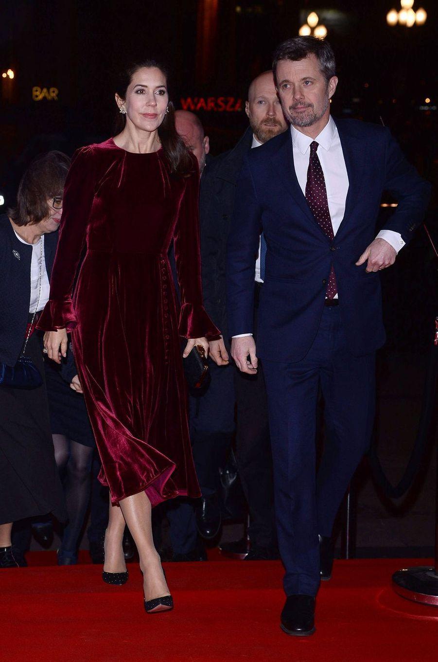 La princesse Mary et le prince Frederik de Danemark à Varsovie, le 25 novembre 2019