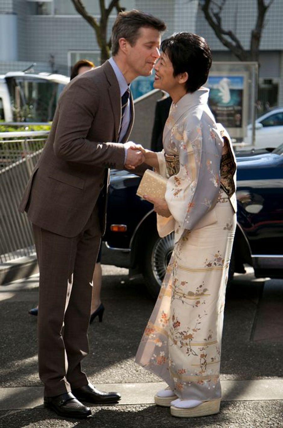 Le prince Frederik de Danemark et la princesse Hisako de Takamado à Tokyo, le 27 mars 2015