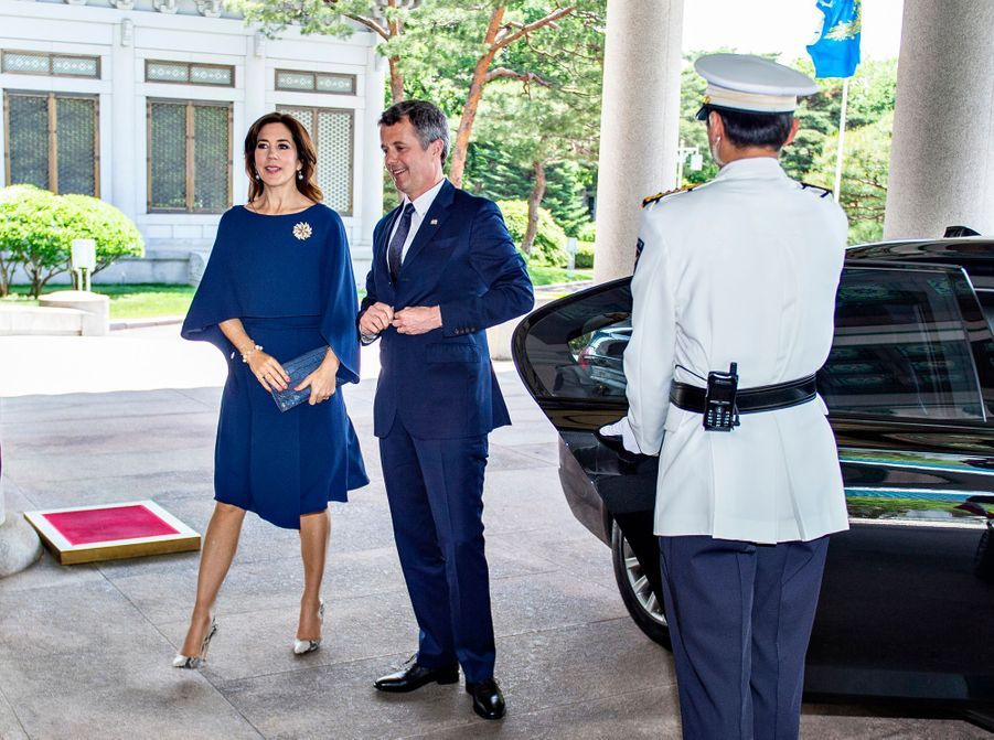 La princesse Mary et le prince Frederik de Danemark à Séoul, le 20 mai 2019