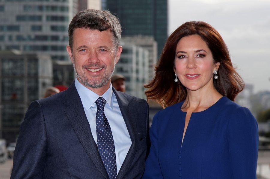 La princesse Mary et le prince héritier Frederik de Danemark à Paris, le 7 octobre 2019
