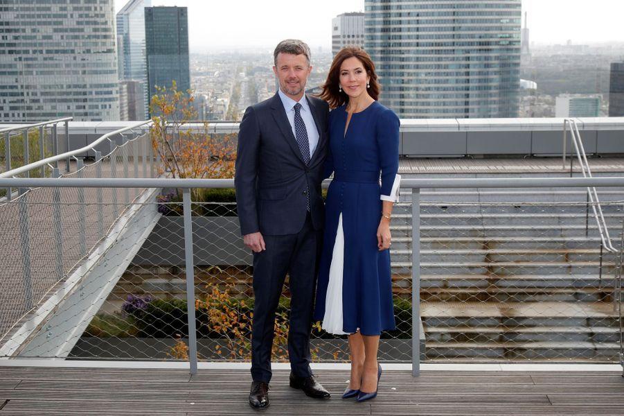 Le prince héritier Frederik de Danemark et la princesse Mary à Paris, le 7 octobre 2019