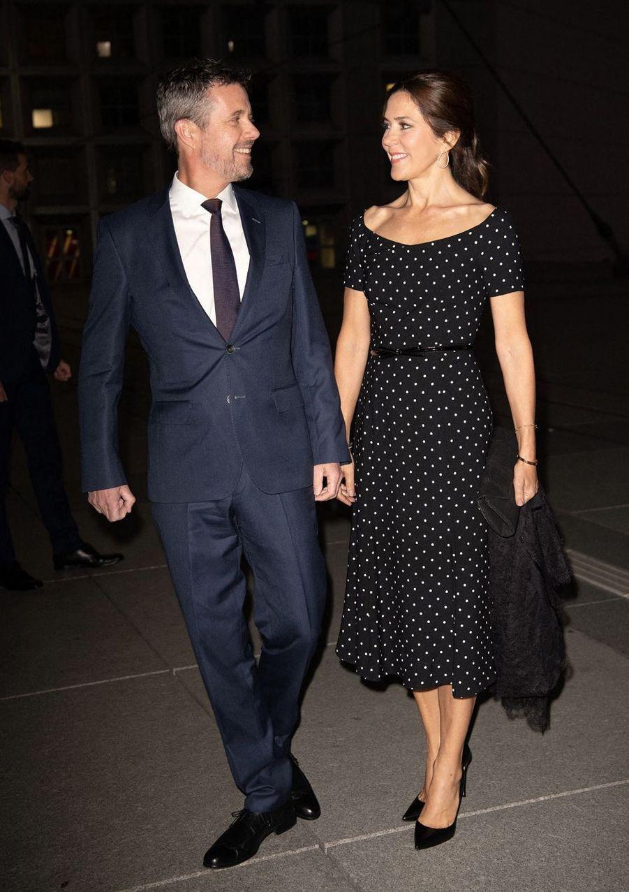 La princesse Mary et le prince Frederik de Danemark à Paris, le 7 octobre 2019