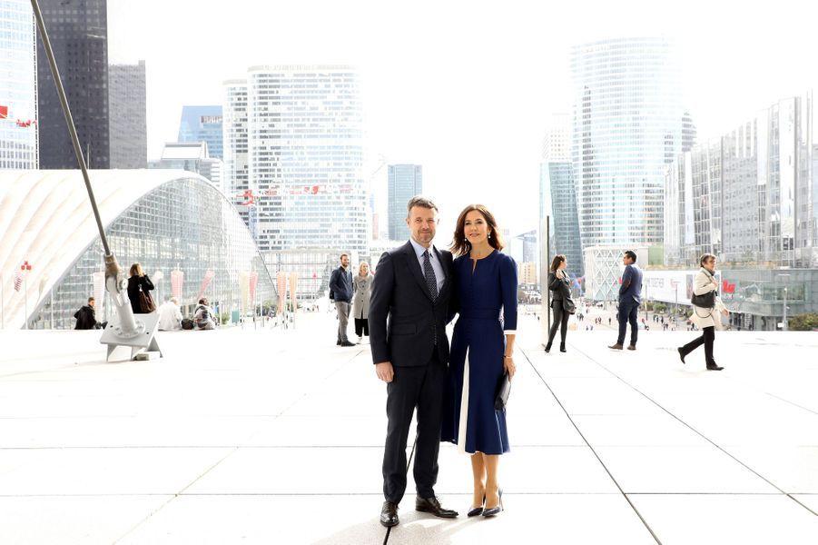 Le prince Frederik de Danemark et la princesse Mary à Paris, le 7 octobre 2019