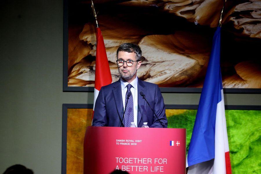 Le prince Frederik de Danemark à Paris, le 7 octobre 2019
