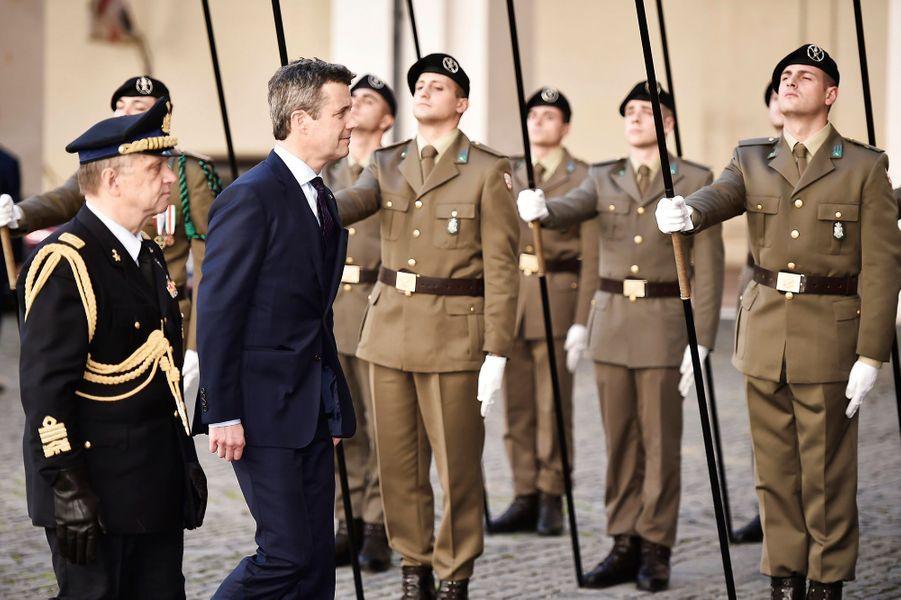 Le prince Frederik de Danemark à Rome, le 6 novembre 2018