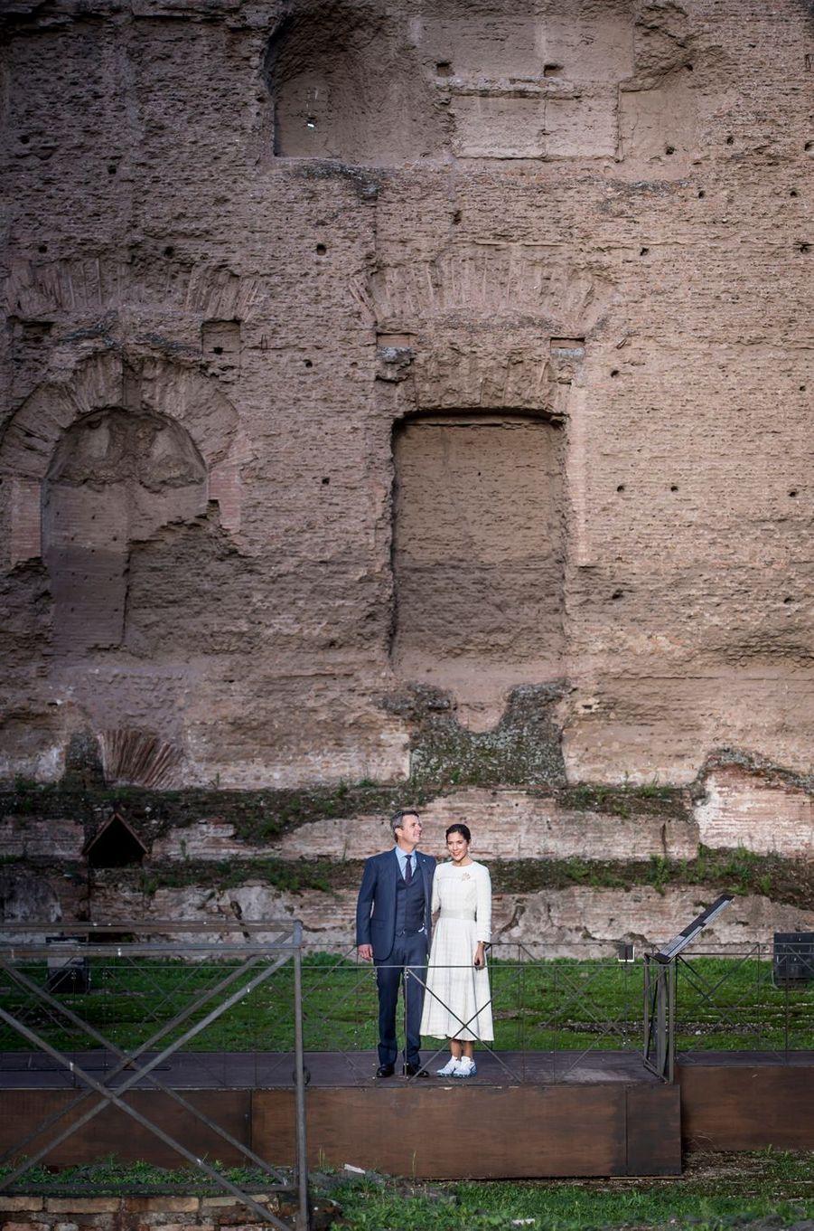 La princesse Mary et le prince Frederik de Danemark à Rome, le 6 novembre 2018