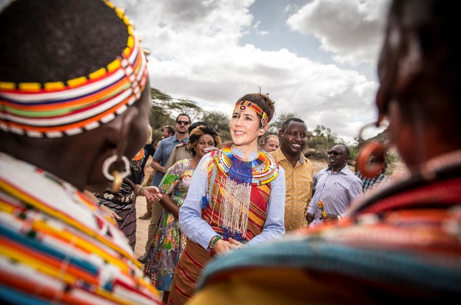 La princesse Mary de Danemark dans la réserve naturelle de Kalama au Kenya, le 27 novembre 2018