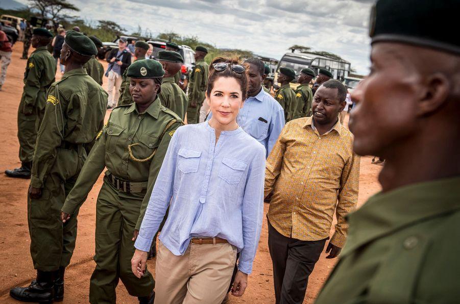 La princesse Mary de Danemark à Kalama au Kenya, le 27 novembre 2018