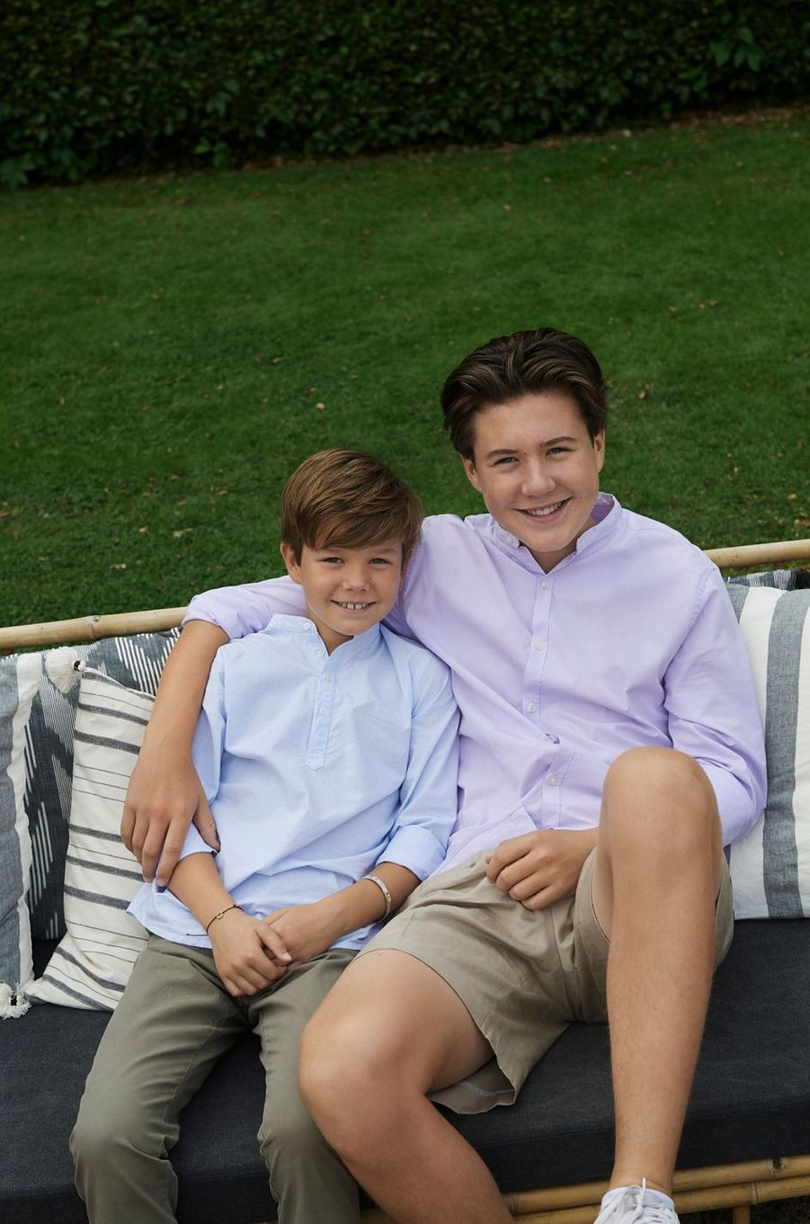 Les princes Vincent et Christian de Danemark. Photo diffusée le 31 août 2020