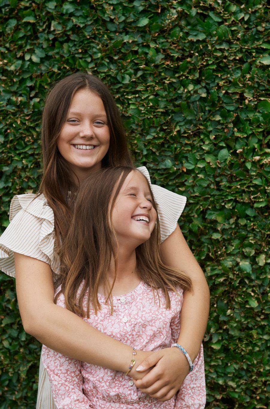 Les princesses Isabella et Josephine de Danemark. Photo diffusée le 31 août 2020