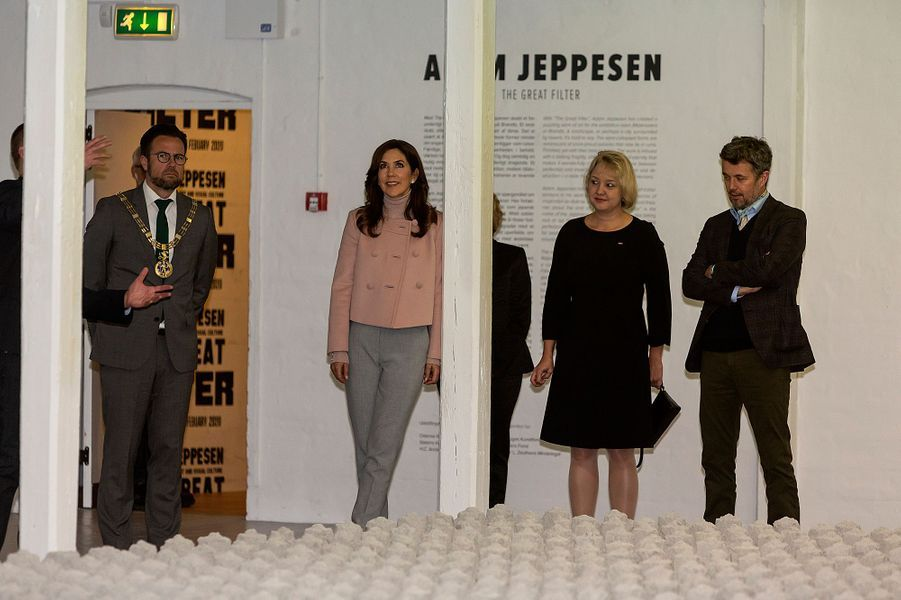 La princesse Mary et le prince héritier Frederik de Danemark à Odense, le 2 novembre 2019