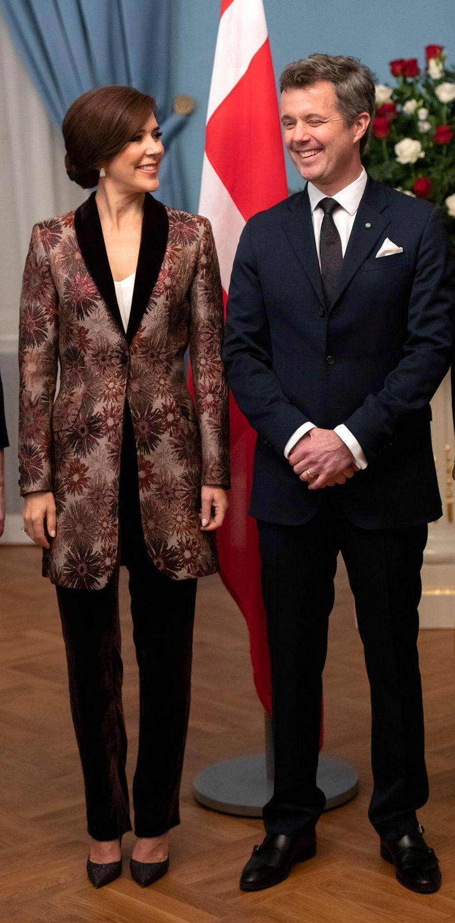 La princesse Mary et le prince Frederik de Danemark à Riga, le 6 décembre 2018