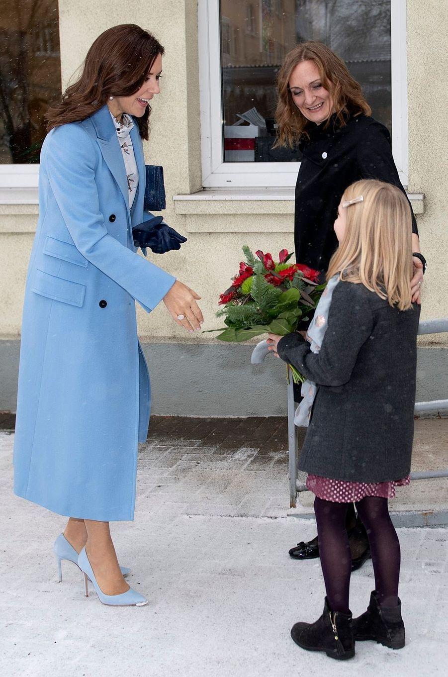 La princesse Mary de Danemark à Riga, le 7 décembre 2018