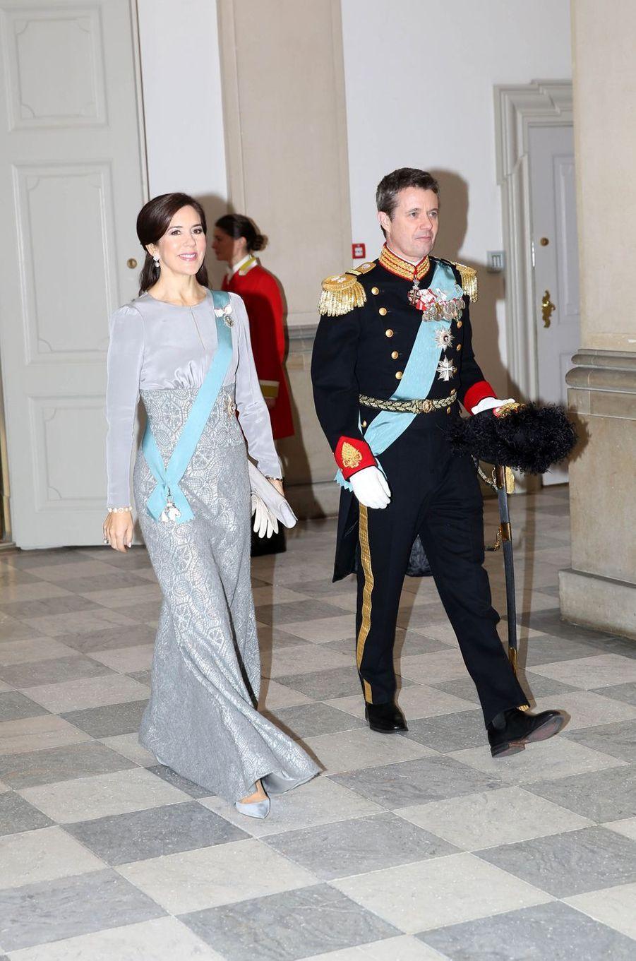 La princesse Mary et le prince Frederik de Danemark, le 3 janvier 2019 à Copenhague