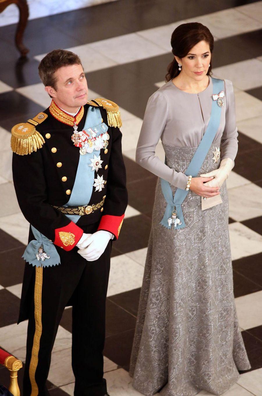 La princesse Mary et le prince Frederik de Danemark à Copenhague, le 3 janvier 2019