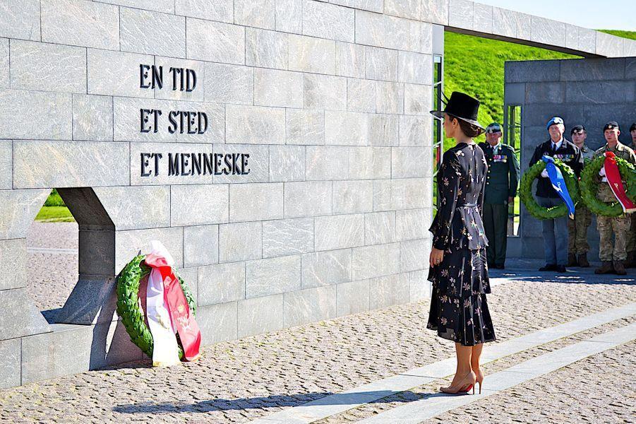 La princesse Mary de Danemark remplace son mari pour le Jour du drapeau à Copenhague, le 5 septembre 2018
