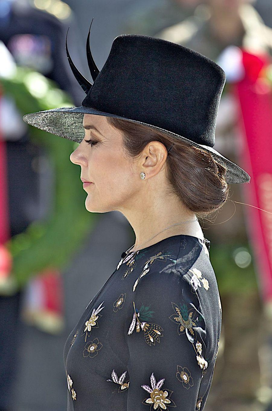 La princesse Mary de Danemark pour le Jour du drapeau à Copenhague, le 5 septembre 2018