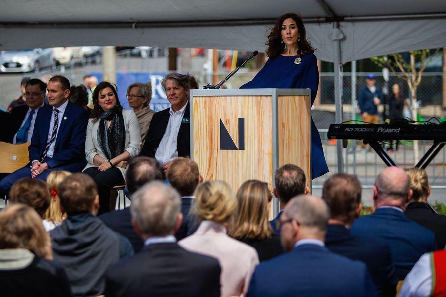 La princesse Mary de Danemark lors de l'inauguration du Nordic Museum à Seattle, le 5 mai 2018