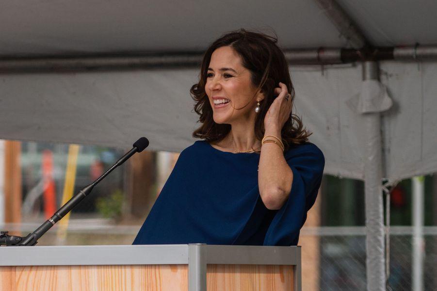 La princesse Mary de Danemark lors de l'inauguration du Musée nordique à Seattle, le 5 mai 2018