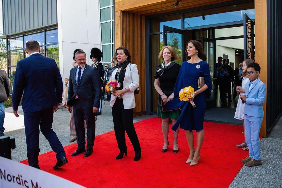 La princesse Mary de Danemark au Nordic Museum à Seattle, le 5 mai 2018