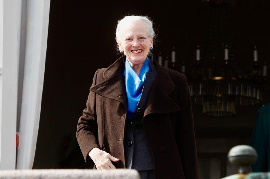 La reine Margrethe II de Danemark à Aarhus, le 16 avril 2019 jour de son 79e anniversaire