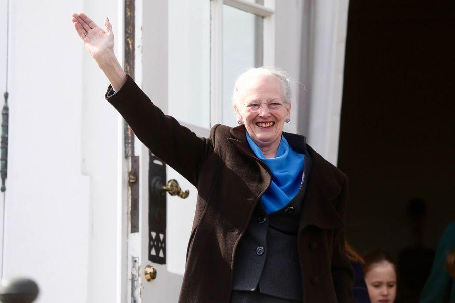 La reine Margrethe II de Danemark à Aarhus, le 16 avril 2019