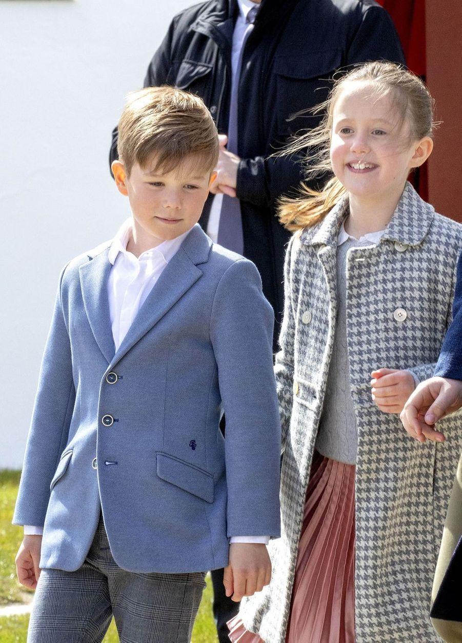 Le prince Vincent et la princesse Josephine de Danemark à Aarhus, le 16 avril 2019