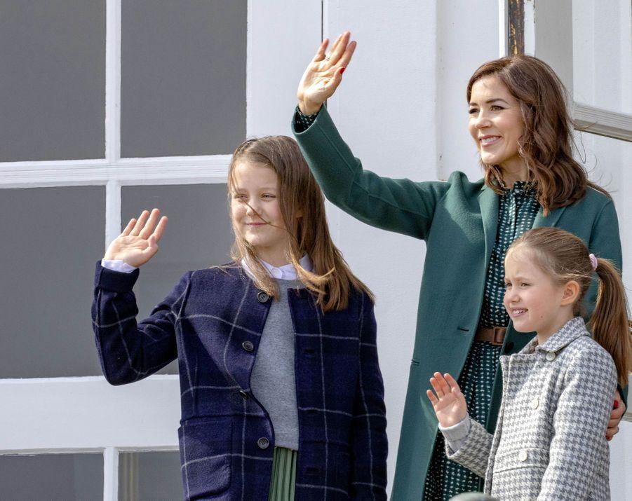 Les princesses Isabella, Mary et Josephine de Danemark à Aarhus, le 16 avril 2019