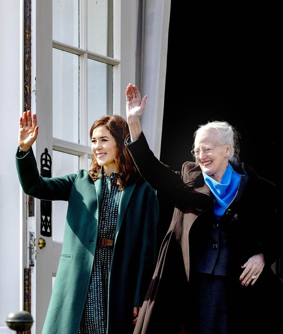 La princesse Mary et la reine Margrethe II de Danemark à Aarhus, le 16 avril 2019