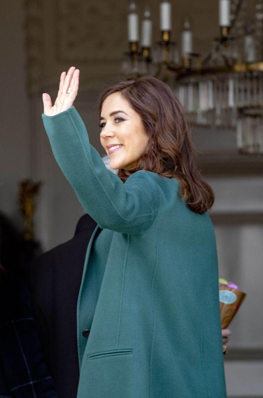 La princesse Mary de Danemark à Aarhus, le 16 avril 2019