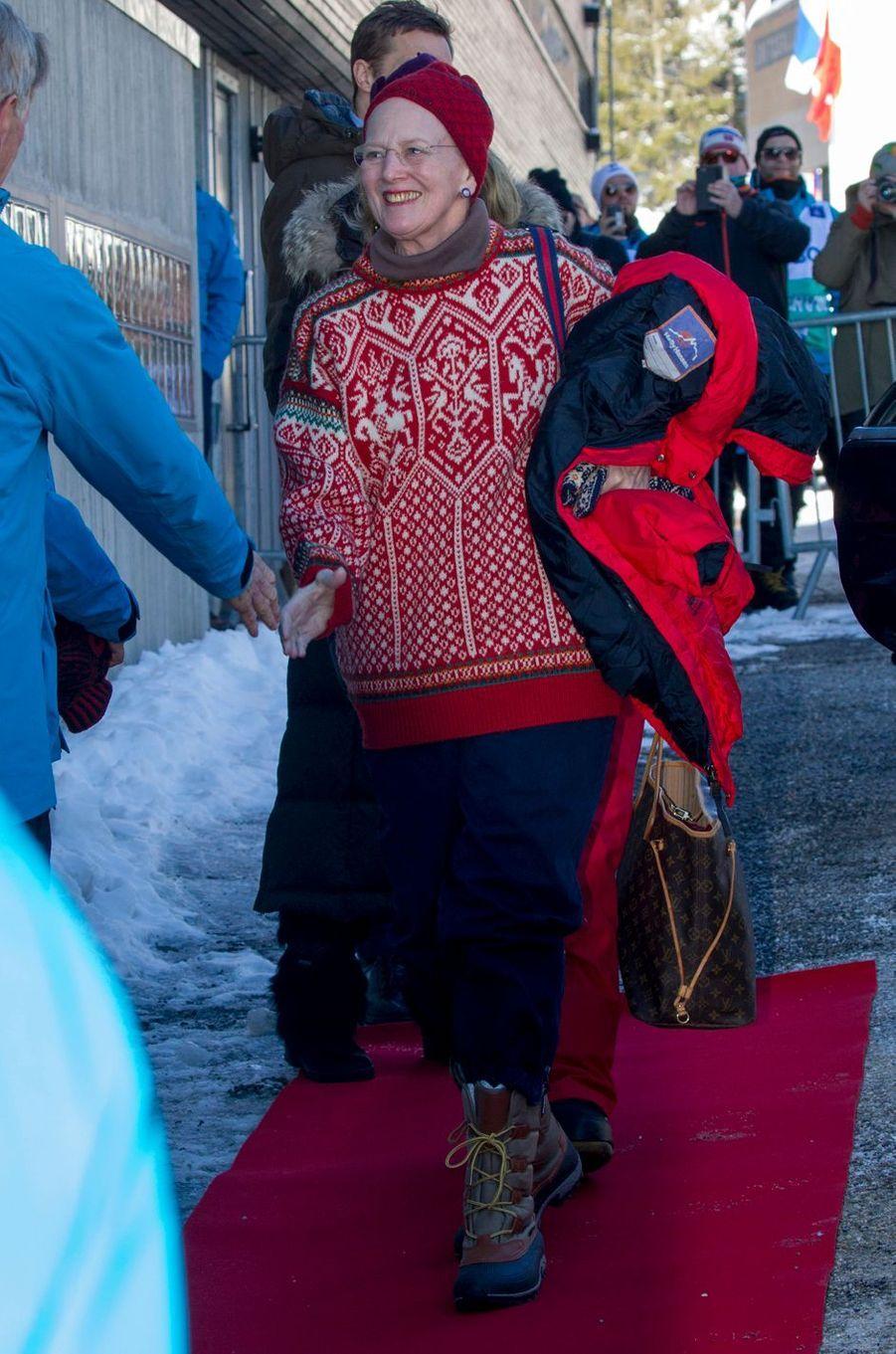 La reine Margrethe II de Danemark à Oslo, le 10 mars 2019