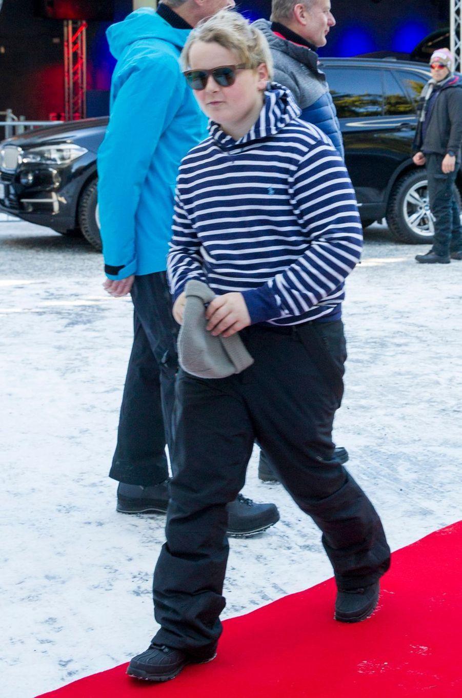 Le prince Sverre Magnus de Norvège à Oslo, le 10 mars 2019